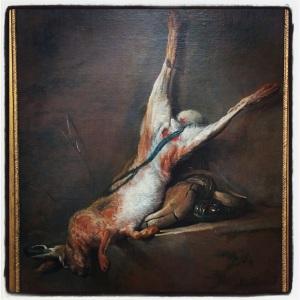 Lièvre mort avec poire à poudre et gibecière de Jean Siméon Chardin