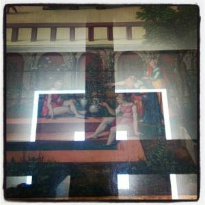 Betshabée au bain, convoitée par David de Hans Sebald Beham