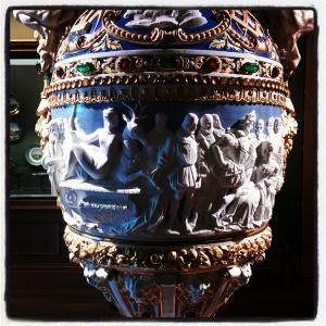 Jean Goujon montrant à Henri II et Diane de Poitiers le groupe de Diane et du cerf de la Manufacture de Sèvres d'après Claude-Aimé Chenavard