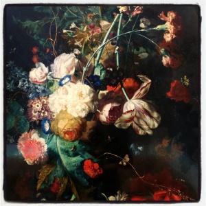 Vase de fleurs dans une niche de Jan van Huysum