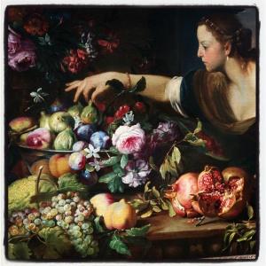 Femme prenant des fruits d'Abraham Brueghel