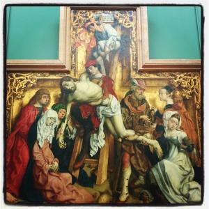 La descente de croix de Maître de Saint-Barthélémy