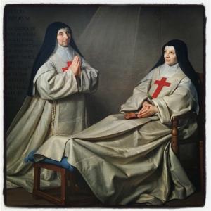 La Mère Catherine -Agnès Arnauld et la soeur Catherine de Sainte Suzanne Champaigne, fille de l'artiste dit Ex-voto de Philippe de Champaigne