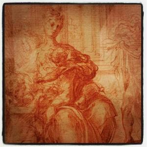 Au Louvre, j'aime Parmigianino