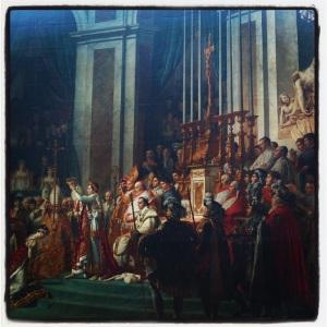 Sacre de l'empereur Napoléon Ier et couronnement de l'impératrice Joséphine dans la cathédrale Notre-Dame de Paris, le 2 décembre 1804 de Jacques-Louis David