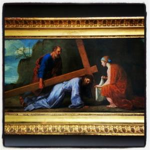 Jésus portant sa croix d'Eustache Le Sueur