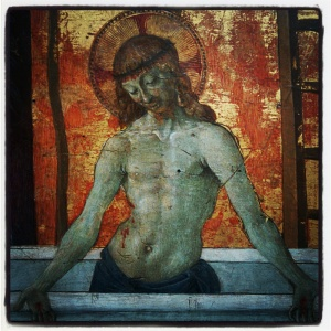 Le christ au tombeau de Pietro Vannucci