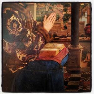 Le chancelier Rolin en prière devant la vierge, dit La vierge du chancelier Rolin de Jan van Eyck