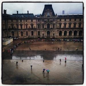 Vue de la Seine avec la façade sud de la Grande Galerie du Louvre à Paris de Reiner Nooms