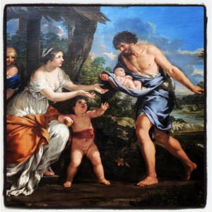 Romulus et Rémus recueillis par Faustulus de Pietro Berrettini